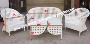 Bàn ghế sofa nhựa giả mây kiểu dáng hiện đại - Bàn ghế mây tre đan