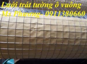 Lưới trát tường ô vuông ô 5x5, dây 0.5ly, khổ 1mx25m/cuộn chống nứt tường, tô tường