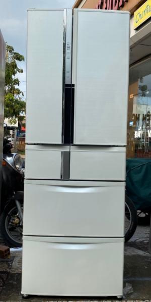 Tủ lạnh Mitsubishi MR-R47T 465l Date 2012, làm lạnh nhanh, Tiệt kiệm điện, màu bạch kim đẹp