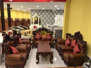 Bộ bàn ghế sofa hoàng gia bọc da cao cấp