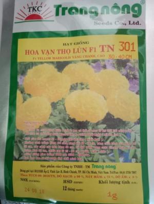 Hạt giống hoa vạn thọ vàng chanh Trang Nông