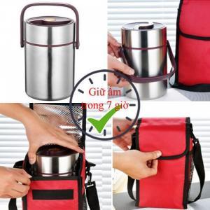 Khay hộp inox 304 đựng cơm giữ nhiệt cho văn phòng, học sinh, bệnh nhân