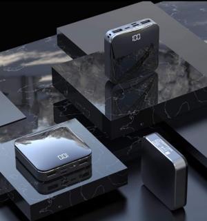 Pin Sạc dự phòng PISEN Mini D92 Mirror 10000mAh có LCD sang trọng