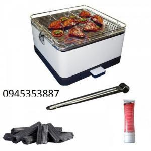 Com bo Bếp nướng than hoa không khói hộp vuông phù đổng - PD17-D115 kèm 2 kg than
