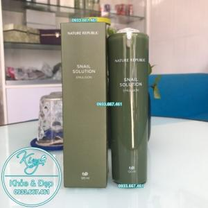 Sữa Dưỡng Nature Republic Snail Solution Emulsion