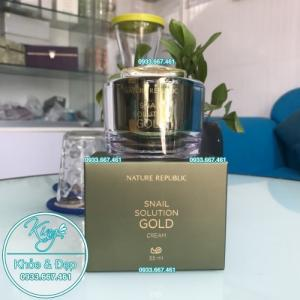 Kem Dưỡng Da Nature Republic Snail Solution Gold Cream