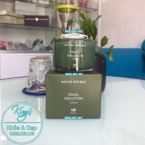 Kem Dưỡng Da Nature Republic Snail Solution Cream