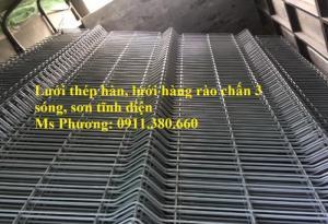 Lưới Thép Hàng Rào Chấn Sóng D5 Ô50X200 Mạ Kẽm Sơn Tĩnh Điện