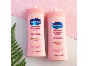 Sữa dưỡng thể trắng hồng da Vaseline Healthy White UV Lightening 725ml của Mỹ