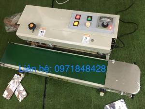 Máy hàn mép túi liên tục FR900, máy ép miệng túi nilong, mép ép túi bóng, túi thực phẩm