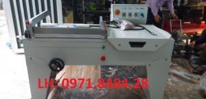 Máy cắt dán màng co FQL450, máy đóng gói màng co, máy cắt dán màng bọc hộp bánh kẹo, gia vị,..