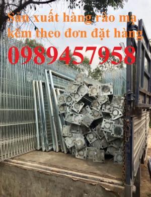 Gia công hàng rào lưới thép, hàng rào khu công nghiệp