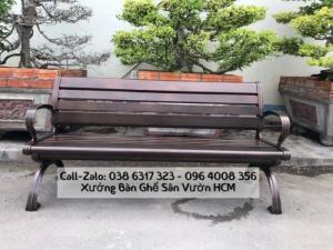 Băng ghế dài sân vườn, công viên chất liệu nhôm đúc cao cấp