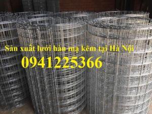 Lưới thép hàn mạ kẽm D3 a( 3030), D3 a(50x50), D4 a(50x50), D4 a(50x100)...tại Hà Nội