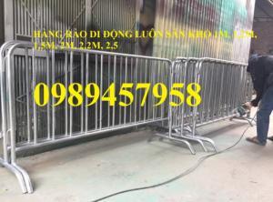 Hàng rào di động inox304, hàng rào di động sơn phản quang có sẵn
