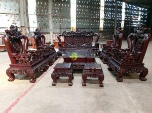 Bộ bàn ghế cẩm tím nghê đỉnh 10 món tay 16 siêu VIP