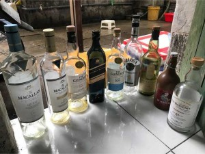 vỏ chai rượu ngoại