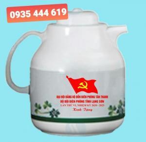 Sản xuất ấm trà in logo Đại hội Đảng tại Huế