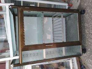 Tủ nhôm kính chén bát nhôm sơn tĩnh điện