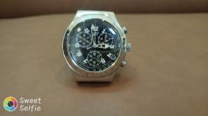 Đồng hồ Swatch 6 kim dây da .