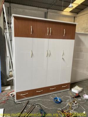 Mâu tủ áo gỗ công nghiệp MDF / MFC đẹp , tủ áo 4 cánh 1m8 giá rẻ tại TPHCM