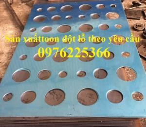 Chuyên sản xuất tôn đột lỗ, tấm đột lỗ theo yêu cầu tại Hà Nội