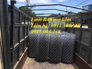 Lưới Thép B40 Mạ Kẽm Ô 60X60. Khổ 1M X 15M/ Cuộn