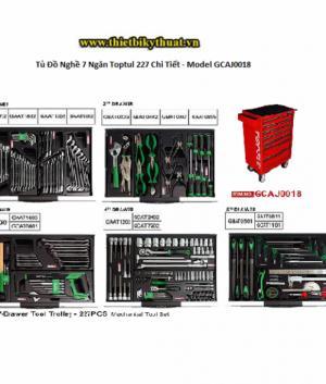 Tủ Đồ Nghề 7 Ngăn Toptul 227 Chi Tiết – Model GCAJ0018
