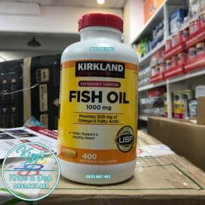 Viên Uống Dầu Cá Kirkland Fish Oil 400 Viên