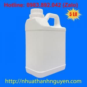 Can 1 lít, can nhựa 5 lít đựng hóa chất, can nhựa đựng nước rửa chén