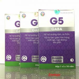 G5 Gaba cải thiện chất lượng giấc ngủ từ thiên nhiên