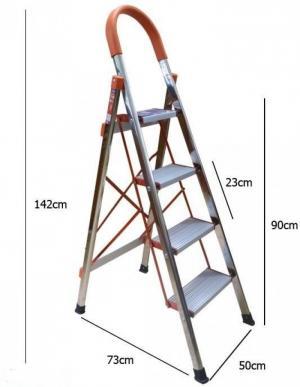 Thang ghế inox 4 bậc,Thang ghế INOX AMECA AMG-04IN
