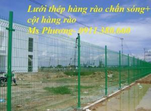 Lưới Hàng Rào Chấn Sóng, D5 Ô 50X200 Mạ Kẽm Sơn Tĩnh Điện