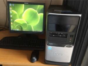 Máy vi tính có màn hình đầy đủ đẹp 80%