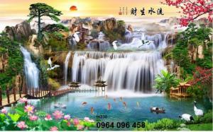 Tranh 3d thác nước mát mẻ -P78