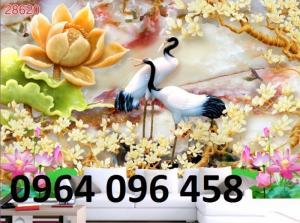 Gạch tranh 3d tranh chim hạc ngọc