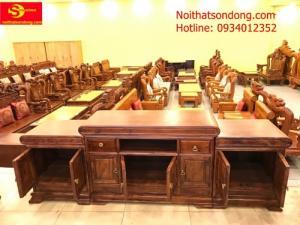 Tủ tivi gỗ cẩm lai đẹp tại quận Tân Phú