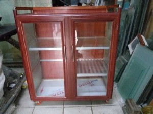 Tủ nhôm kính chén bát loại tủ bếp gas