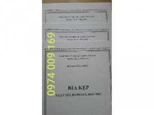 Bộ 3 bìa kẹp hồ sơ viên chức theo tt07