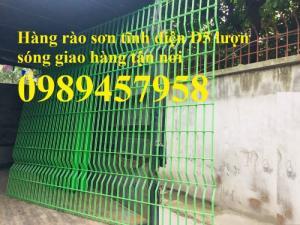 Hàng rào lưới thép hàn sơn tĩnh điện phi 5 ô 75x200 và 50x250