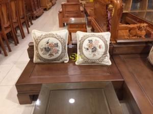 Bộ sofa góc tay trơn sang trọng gỗ sồi nga 5 món SFG002