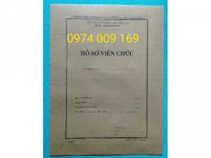In bìa hồ sơ công chức, hồ sơ viên chức