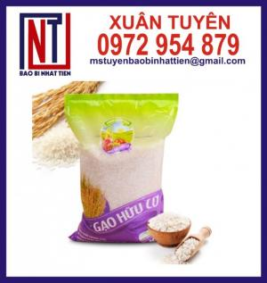 Túi gạo 5kg, túi gạo PA/PE