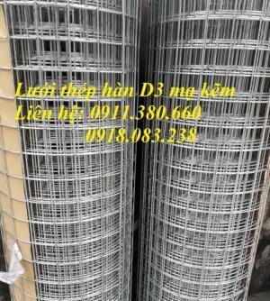 Lưới thép hàn chập Nhật Minh Hiếu D3 a50x50. Khổ 1.5m x15m/cuộn