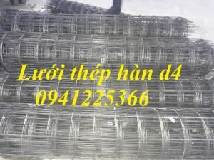 Lưới thép hàn D4a200x200 dạng cuộn khổ 2mx25m,dạng tấm ,làm theo yêu cầu