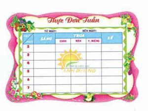 Chuyên bảng biểu, bảng tuyên truyền, bảng thông tin cho trường lớp mầm non