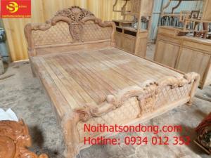Giường ngủ lá tây cổ điển 1,6m x 2m – GN18A