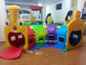Cung cấp hang chui tàu hỏa đáng yêu cho trẻ em mầm non
