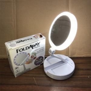 Gương trang điểm gấp gọn có đèn led