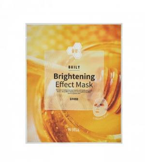 COMBO 10 Mặt nạ lụa BIO cellulose : N:( ELL ( Mặt Nạ  Brightening Effect-Làm Trắng Sáng hồng da. Chiết xuất mật ong, keo ong, sữa ong chúa, Dành cho Da không đều màu, Da bị đốm đen)